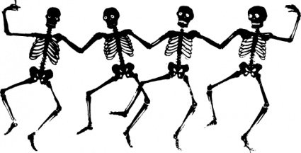 Dancing skeleton clipart black and white download Free Dancing Skeletons Clipart and Vector Graphics - Clipart.me black and white download