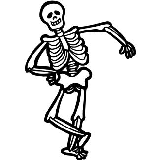Dancing skeleton clipart