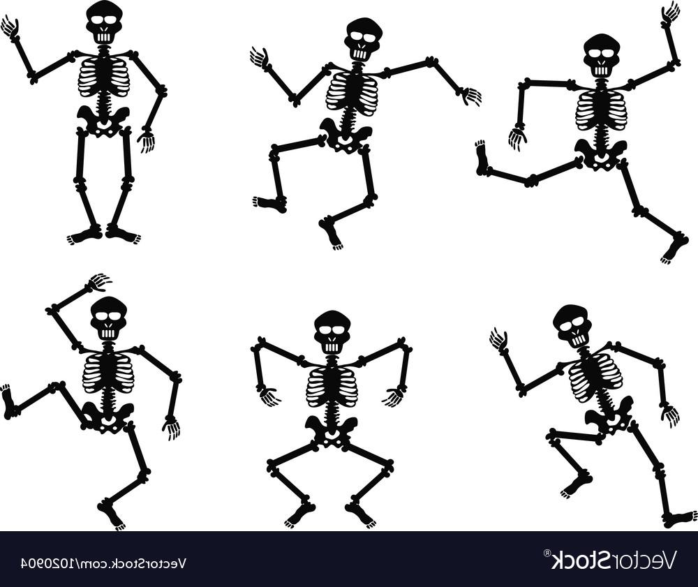 Free dancing skeleton clipart vector freeuse library Top Dancing Skeleton Clip Art Design » Free Vector Art ... vector freeuse library