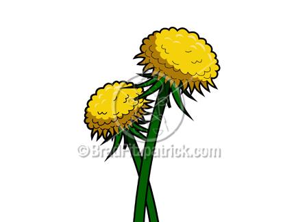 Dandelion cartoon character clipart. Clipartfest clip art