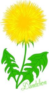 Kid flower clip art. Dandelion cartoon character clipart