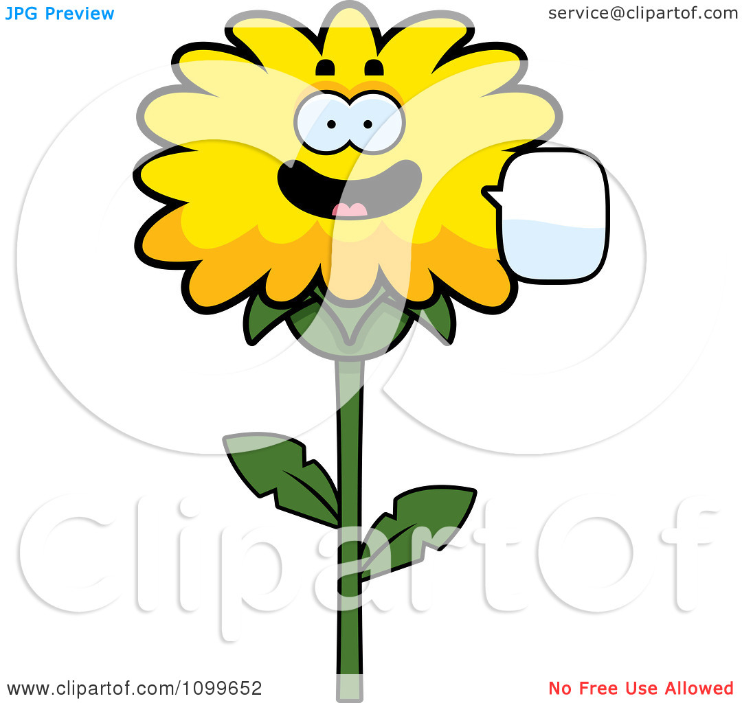 Dandelion cartoon character clipart image library Clipart Talking Dandelion Flower Character - Royalty Free Vector ... image library