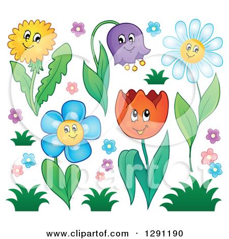 Dandelion cartoon character clipart clip royalty free Clipart of a Happy Cartoon Dandelion Flower Character - Royalty ... clip royalty free