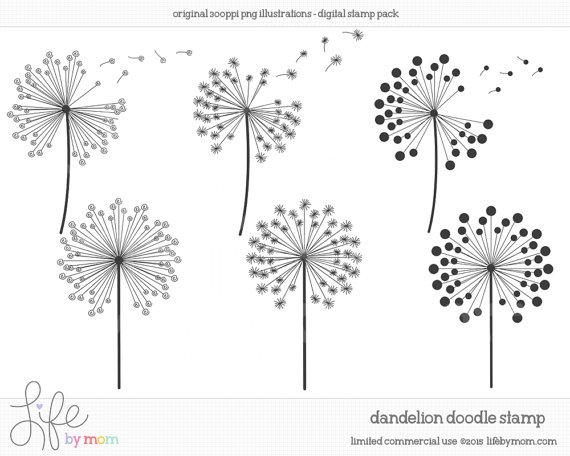 Dandelion clip art pictures jpg transparent download Dandelion clip art | Etsy jpg transparent download