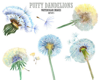 Dandelion clip art pictures banner royalty free Dandelion clip art | Etsy banner royalty free