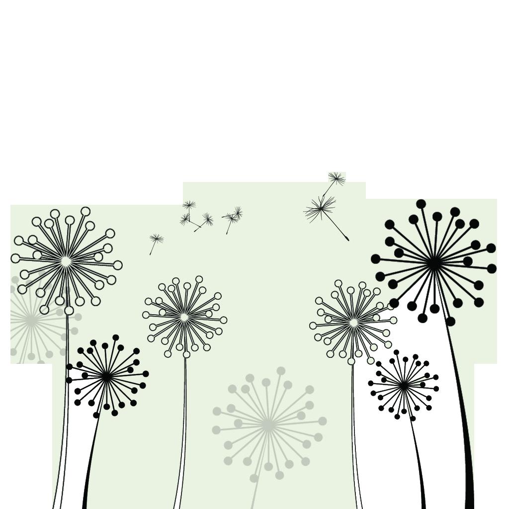Dandelion flower clipart jpg black and white Common Dandelion Taraxacum platycarpum Clip art - Dandelion 1024 ... jpg black and white