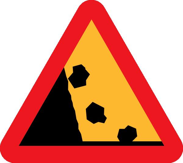 Falling rocks clipart