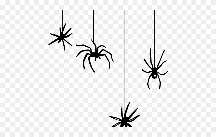 Dangling clipart clip art black and white library Spider Clipart Dangling - Png Download - Clipart Png ... clip art black and white library