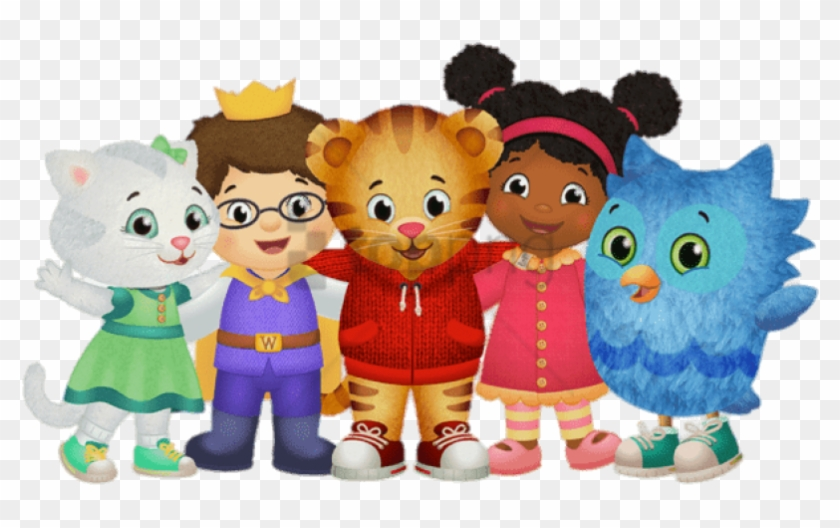 Daniel the tiger clipart svg stock Free Png Download Daniel Tiger And His Friends Clipart ... svg stock