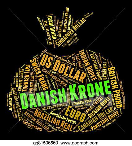Danish krone clipart