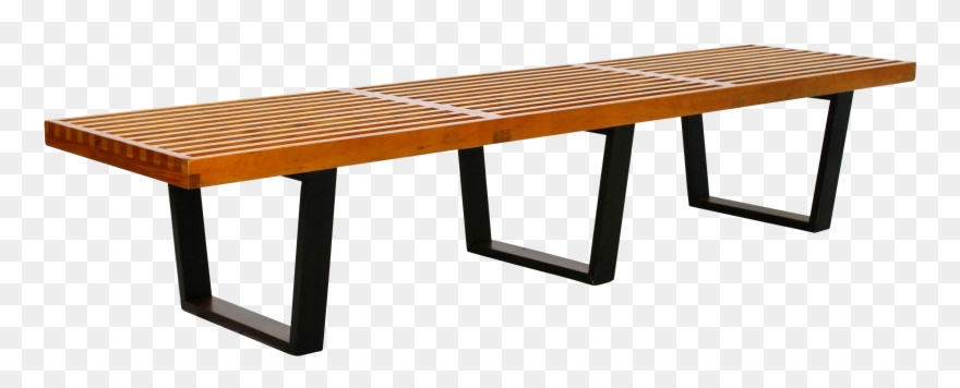 Danish modern clipart graphic free Mid Century Modern Vintage Large Slat Bench George Clipart (#2579452 ... graphic free