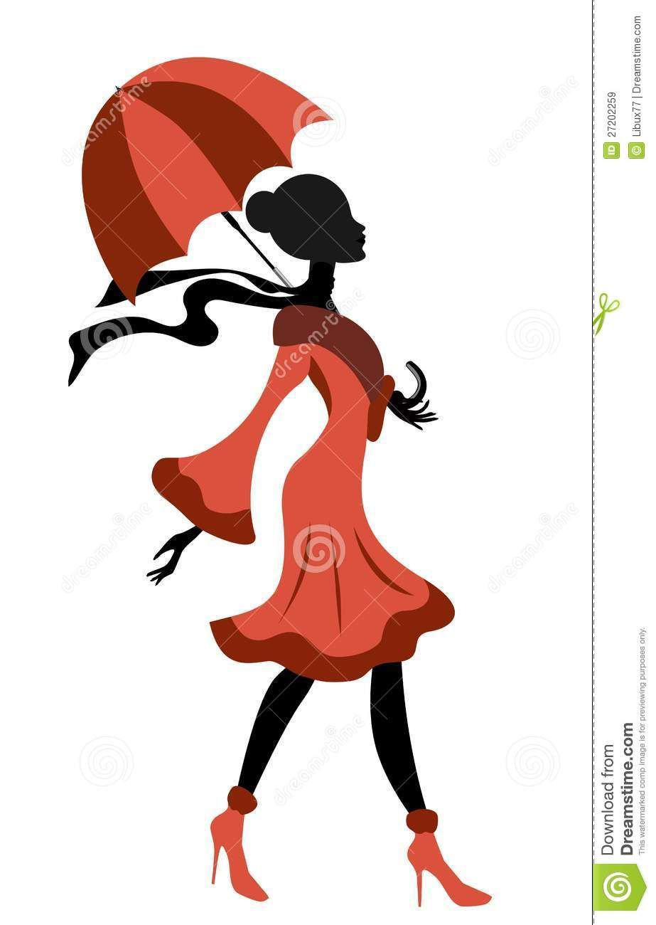 Dansez clipart png royalty free download Elegant Lady Silhouette Walking With Umbrella Royalty Free Stock ... png royalty free download