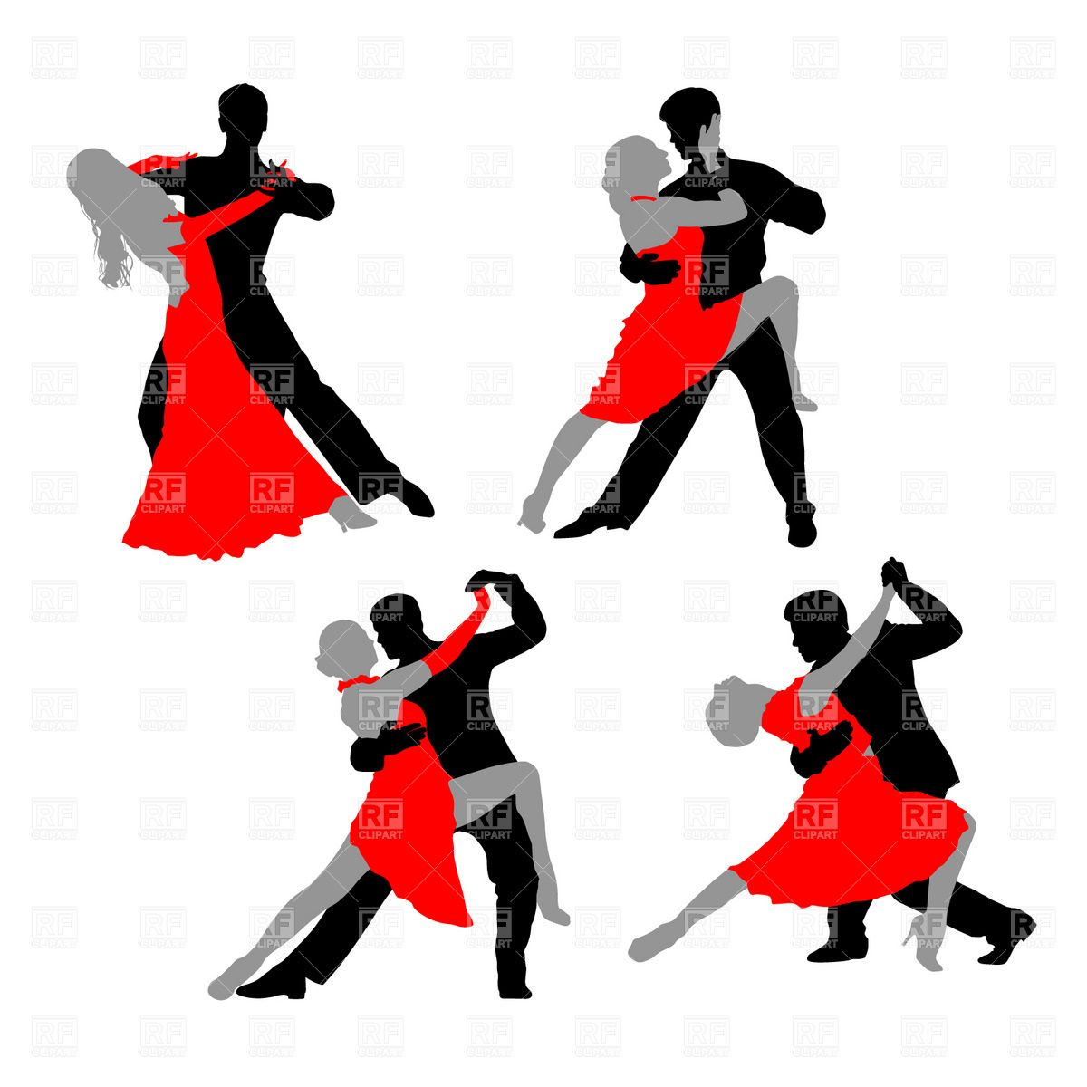 Dansez clipart vector library Dancing couple - tango Vector Image – Vector illustration of People ... vector library