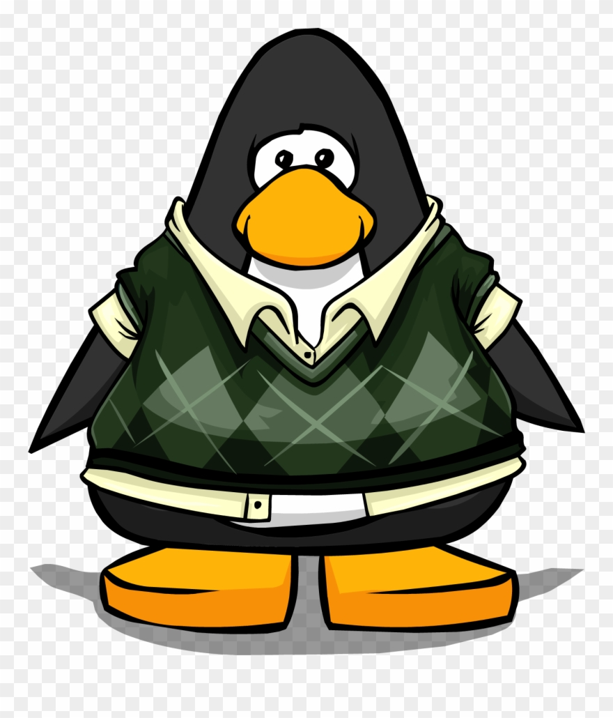 Penguin sweater clipart clipart freeuse library Dapper Sweater Vest On A Player Card - Club Penguin Blue Tux Clipart ... clipart freeuse library