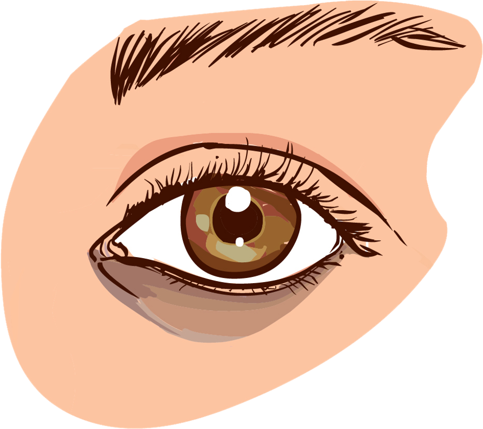 Dark eye clipart graphic free library Brown Eyes Clipart Small Eye - Eye Dark Circle Vector, HD Png ... graphic free library