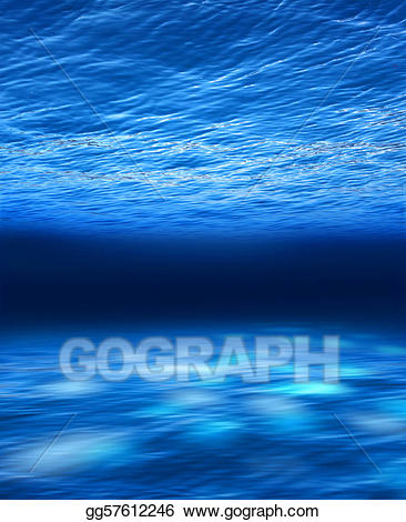Dark ocean clipart vector free library Stock Illustration - Deep blue sea underwater. Clipart gg57612246 ... vector free library