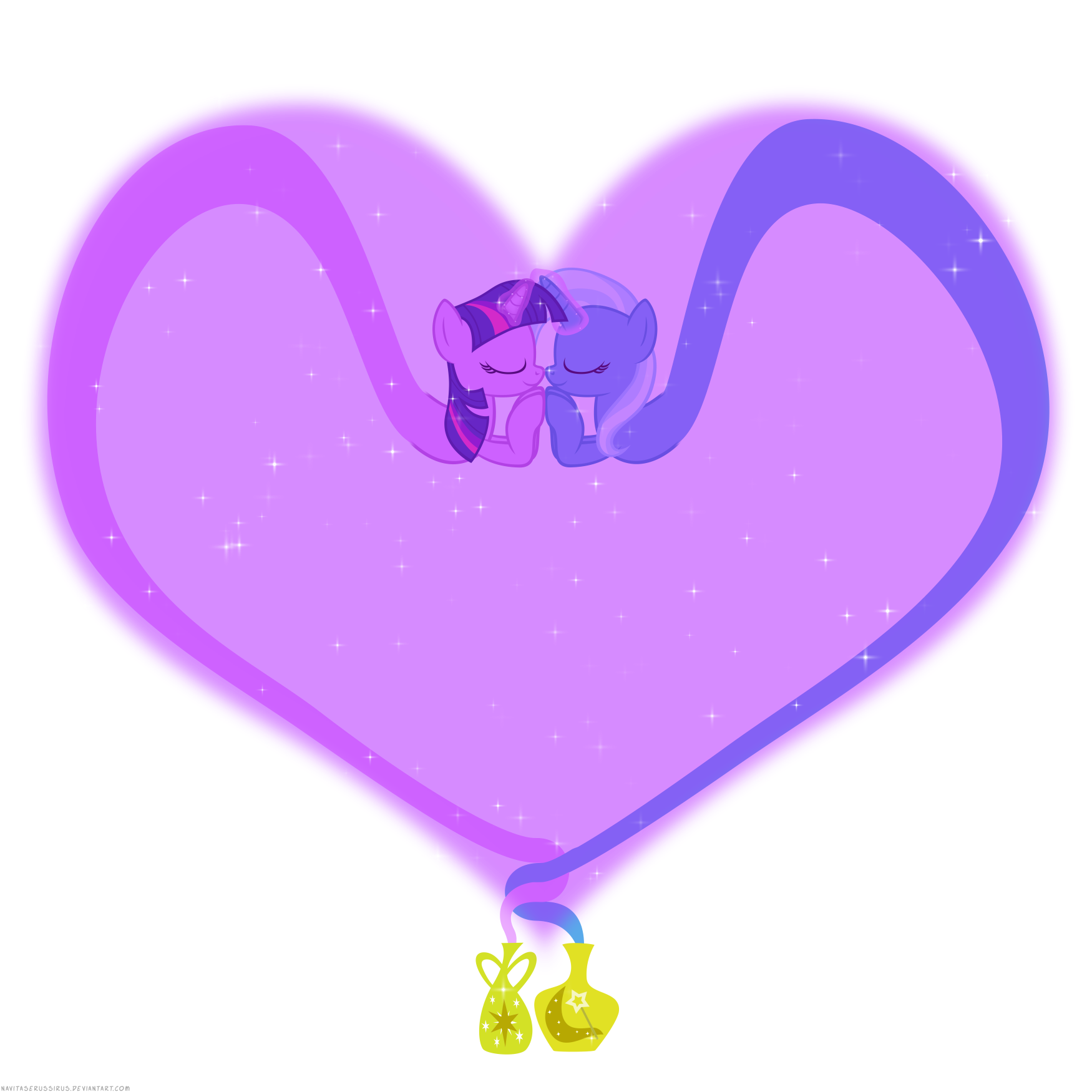 Dark purple heart clipart image library library Image - Twilight Sparkle and Trixie shipping by artist ... image library library