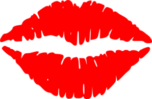 Lipstick clipart free vector black and white library Kissing Lips clip art - vector clip art online, royalty free ... vector black and white library