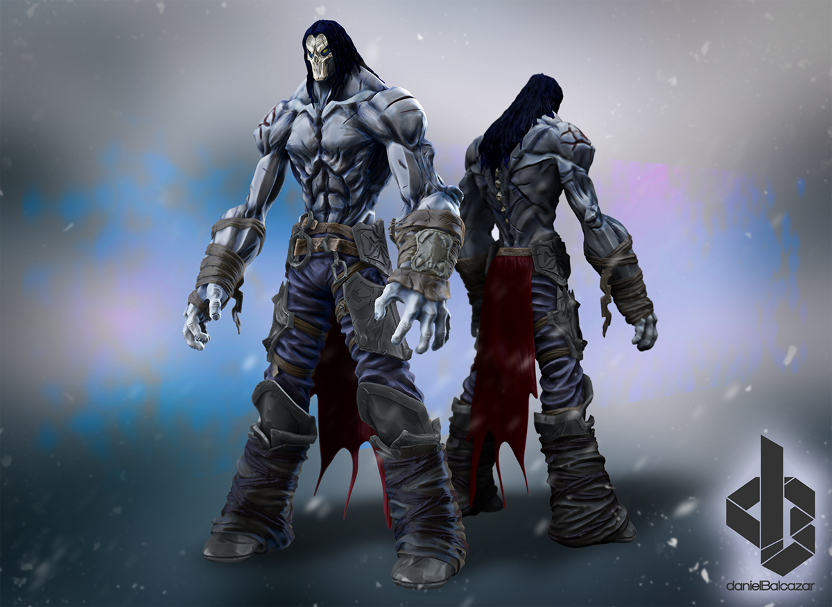 Darksiders 2 death clipart clip transparent library Death DarkSiders II ZBrush on Behance clip transparent library