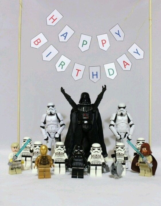 Darth vader using the force on a birthday cake clipart clip transparent library Darth Vader Wishes You a Happy Birthday! Star Wars Art. | Lego STAR ... clip transparent library
