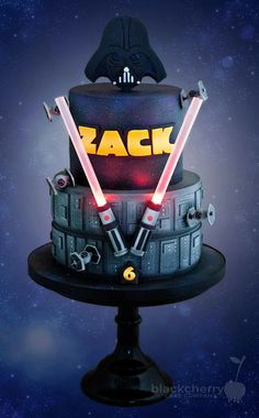 Darth vader using the force on a birthday cake clipart banner royalty free download 25 Best Darth Vader Cakes images in 2017 | Star wars cake, Cookies ... banner royalty free download
