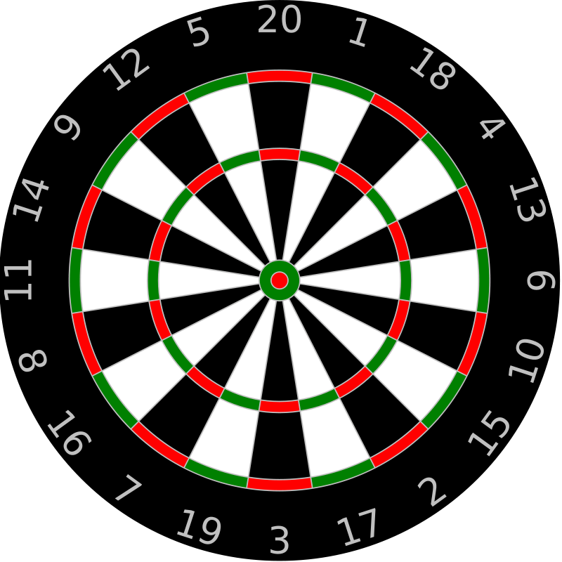 Free dart board clipart jpg library stock Free Clipart: Dartboard   Sport   SVG Files for Cricut   Dart board ... jpg library stock