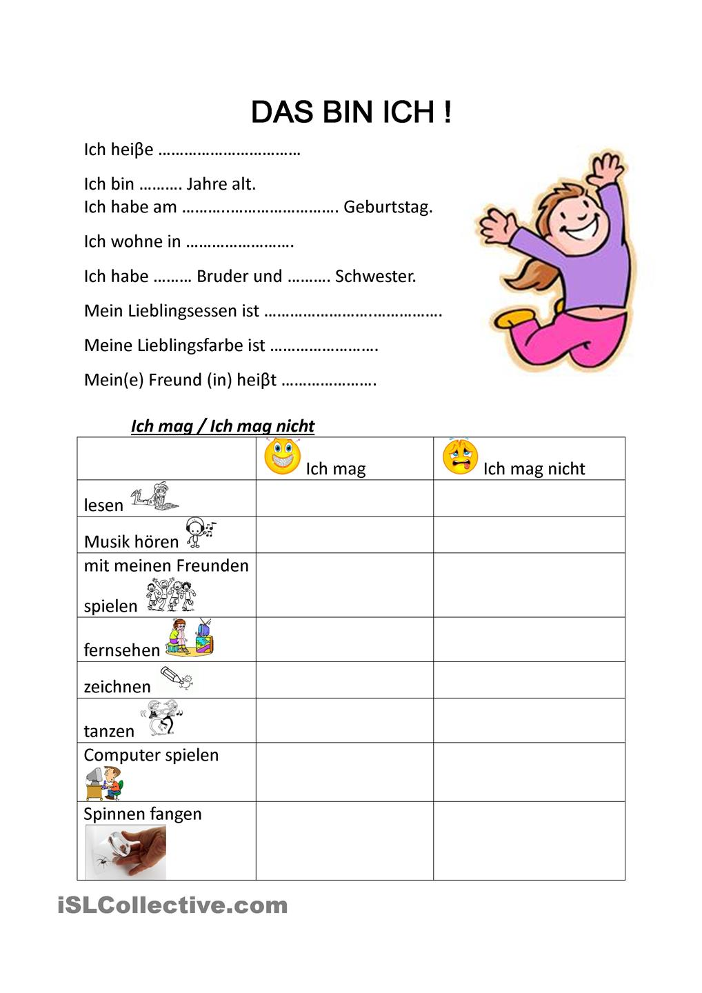 images about deutsch. Das bin ich clipart
