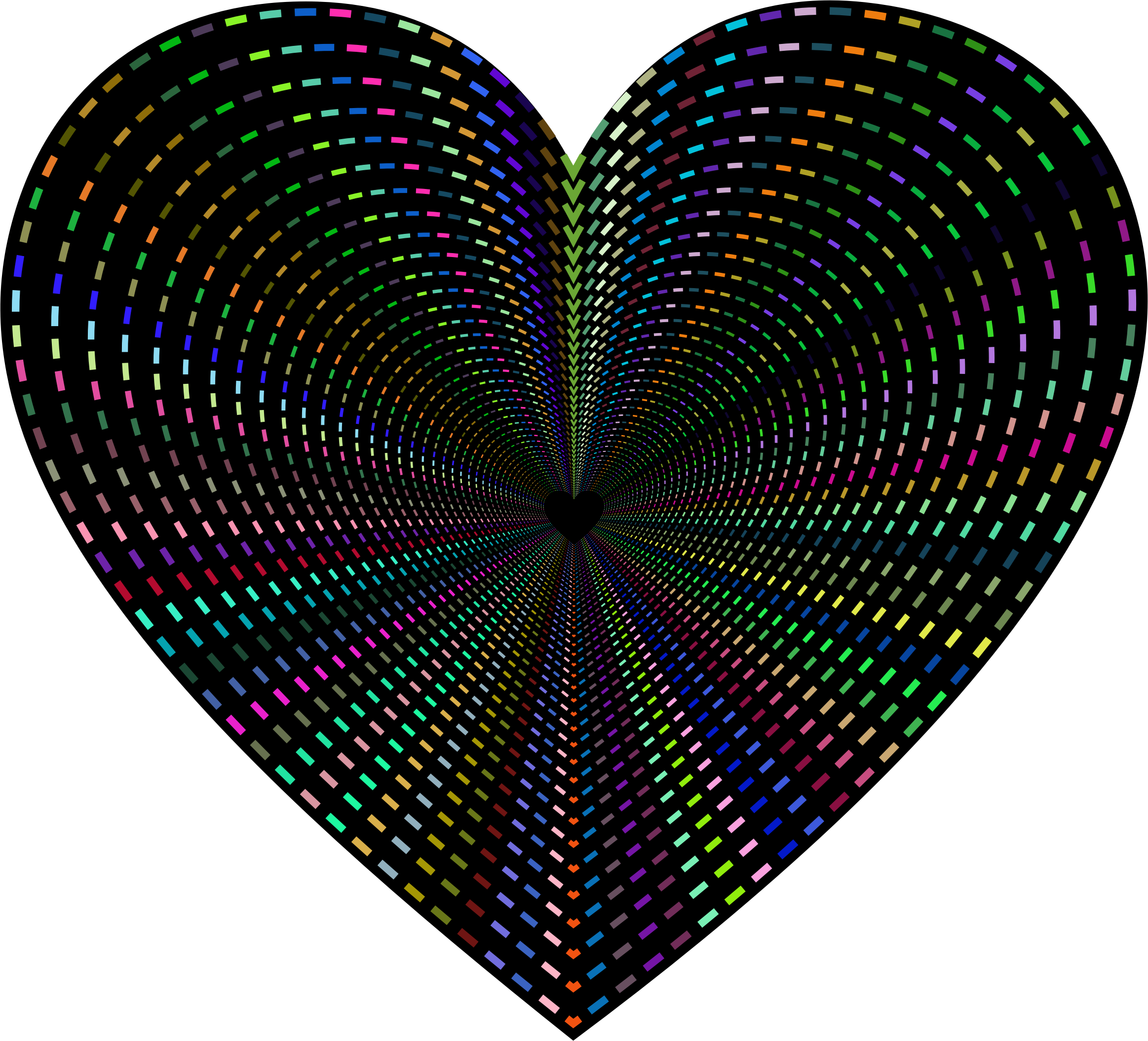 Dashed heart clipart. Line art tunnel big