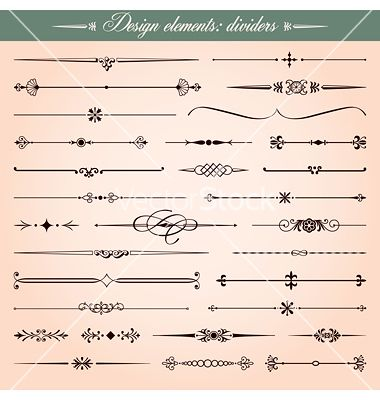 Dashes clipart png free Calligraphic dividers and dashes vector | Calligraphy | Vector ... png free