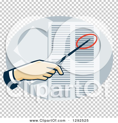 Data sheet clipart picture stock Clipart of a White Hand Using a Pointer to Direct Attention to a ... picture stock