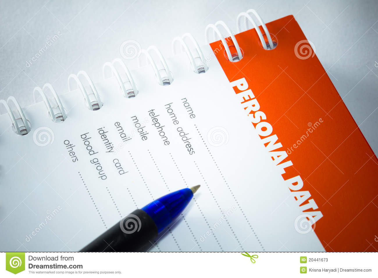 Data sheet clipart svg transparent library Personal Data. Stock Photos - Image: 20441673 svg transparent library