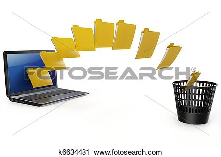Data transfer clipart png royalty free library Clipart of 3d laptop data transfer to deleting recycle bin ... png royalty free library