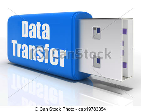 Data transfer clipart transparent library Stock Illustrations of Data Transfer Pen drive Shows Files ... transparent library