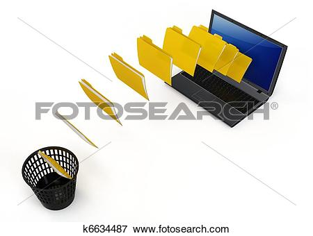 Data transfer clipart royalty free Stock Illustration of 3d laptop data transfer to deleting recycle ... royalty free
