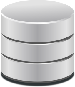 Database icon clipart picture black and white Database Icon Clip Art at Clker.com - vector clip art online ... picture black and white