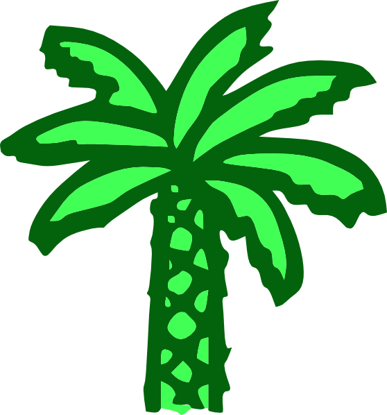 Palm tree leaf clipart svg transparent stock Cartoon Green Palm Tree Clip Art at Clker.com - vector clip art ... svg transparent stock