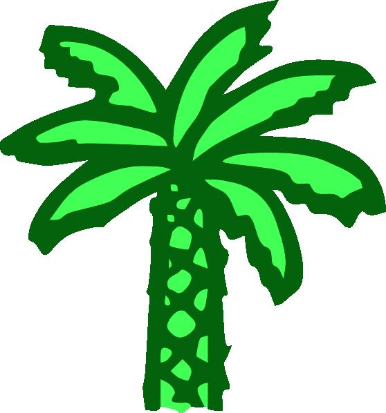 Palm tree leaves clipart jpg Cartoon Green Palm Tree Clip Art at Clker.com - vector clip art ... jpg