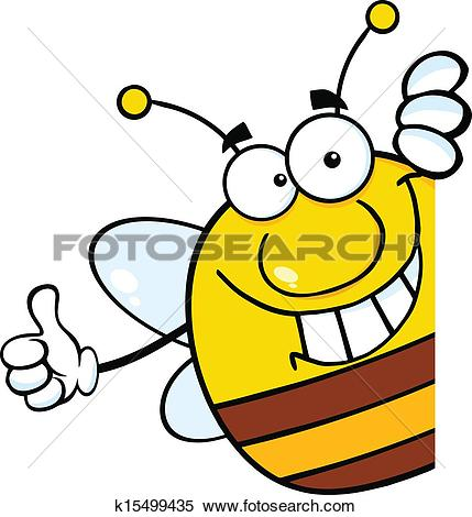 Of bee giving a. Daumen hoch clipart