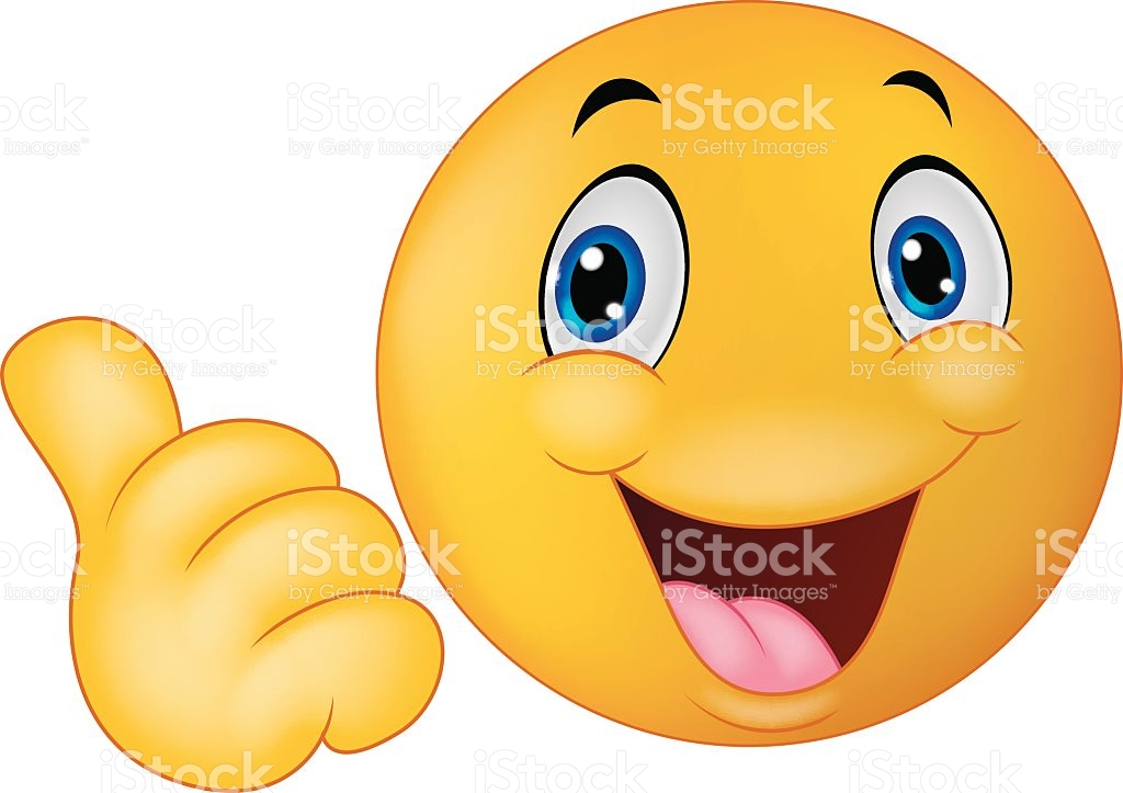 Daumen nach oben clipart. Happy smiley emoticon cartoon