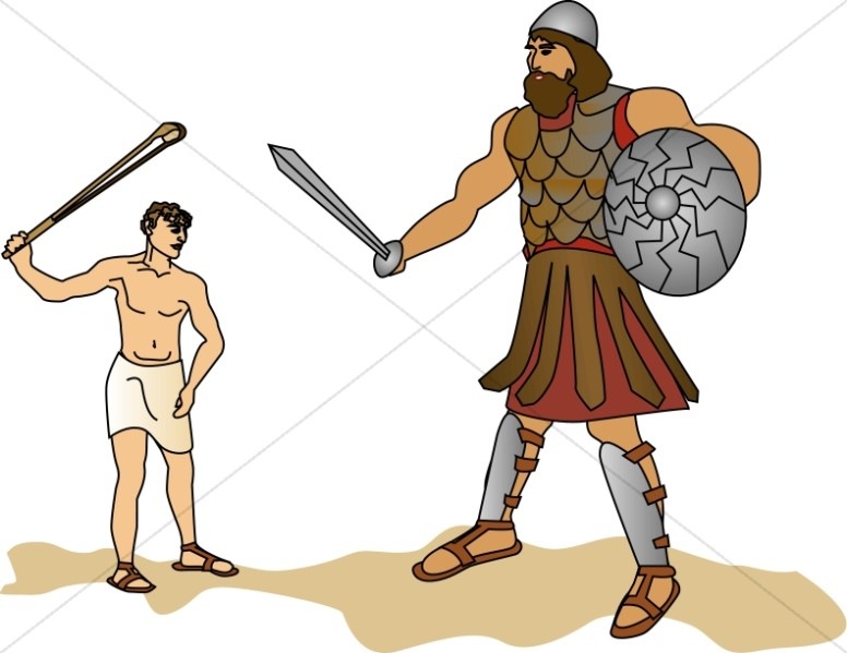 David and goliath clipart image free download David Slays Goliath With a Stone | Old Testament Clipart image free download