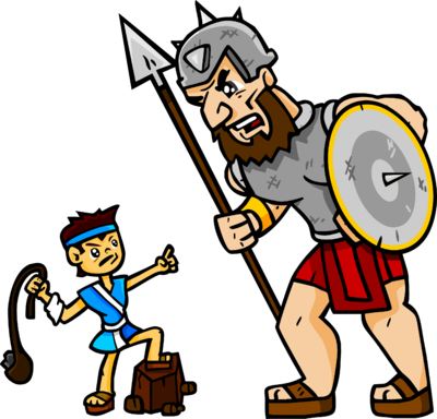 David and goliath clipart svg library stock Image: David and Goliath | Christart.com svg library stock