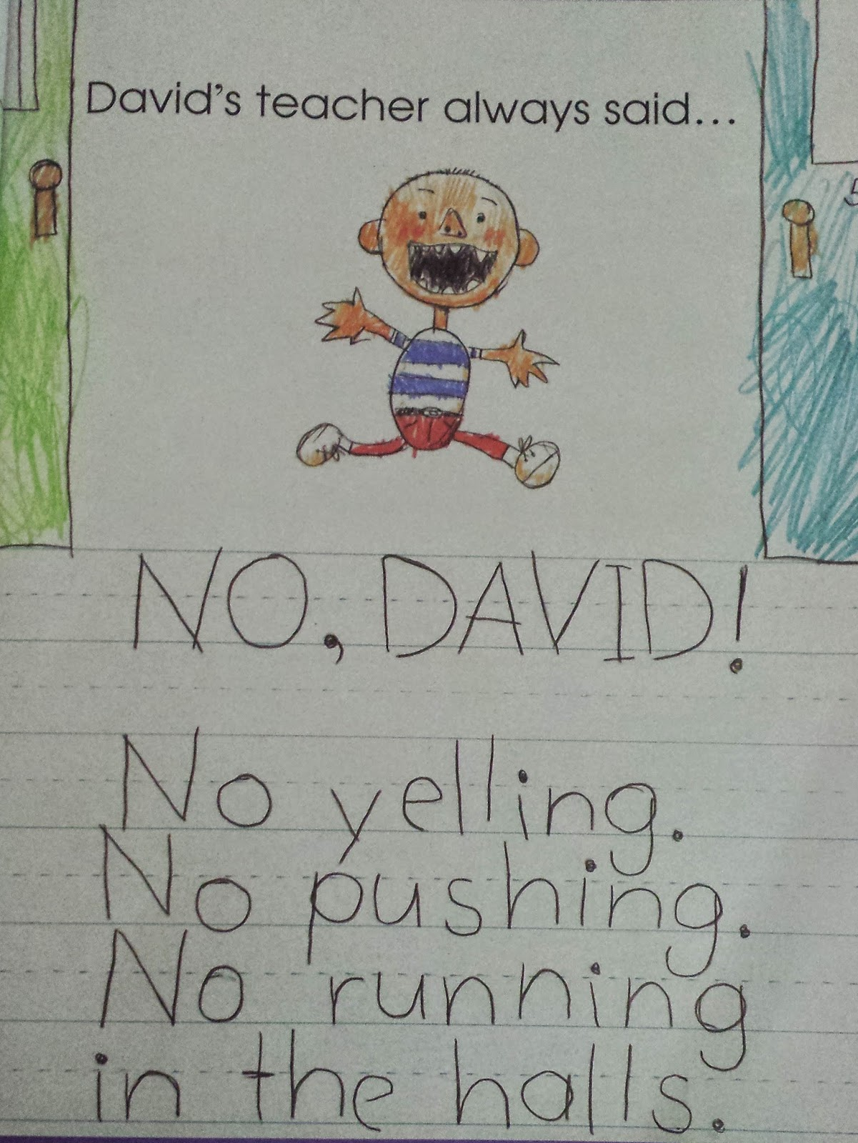 David goes to school and friends clipart clip transparent stock Kindergarten Dragons: Book Talk Tuesday: David Goes to School clip transparent stock