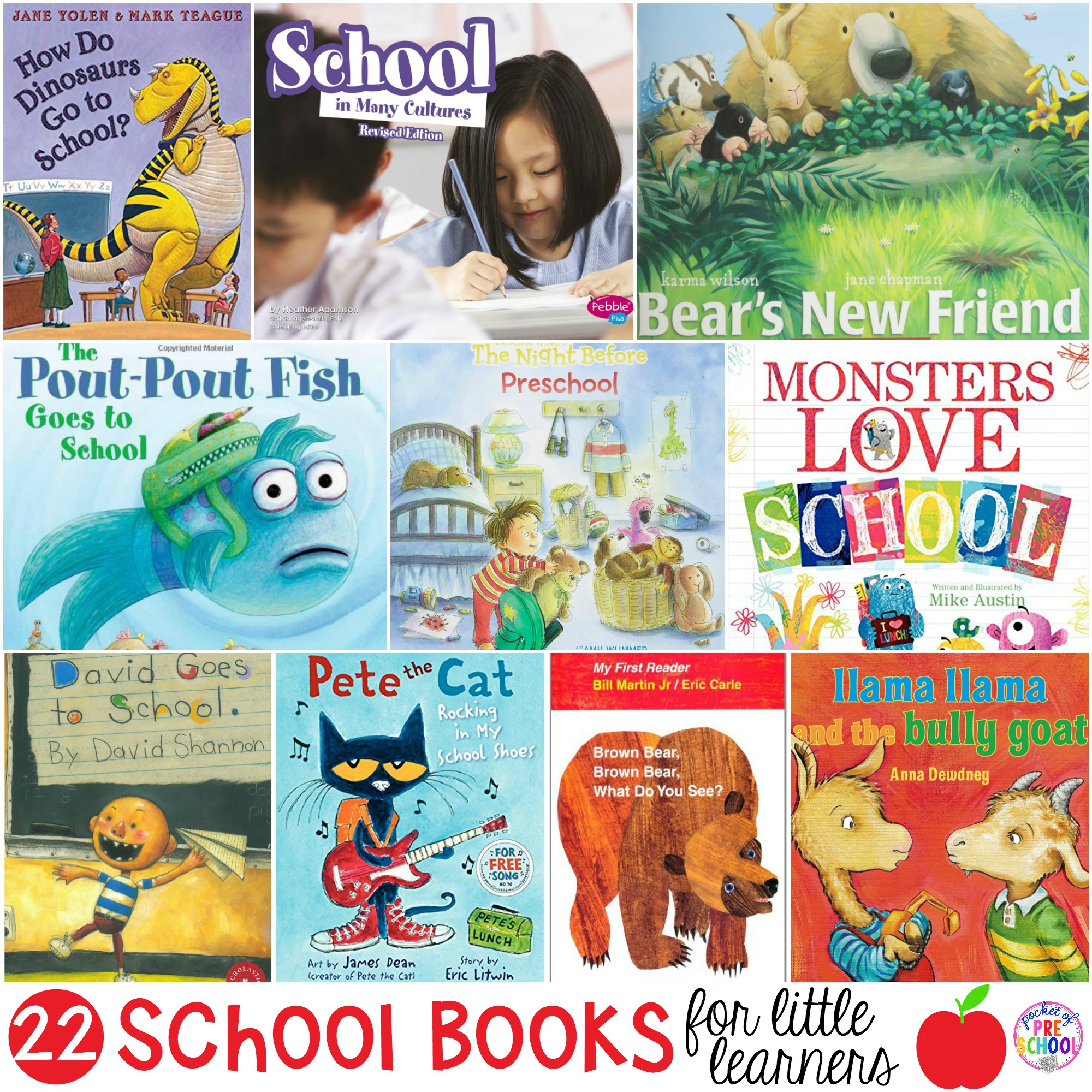David goes to school and friends clipart clipart free stock School Books for Little Learners - Pocket of Preschool clipart free stock