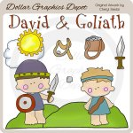 David und goliath clipart image royalty free library Christian Easter Kids - Clip Art - *DGD Exclusive* - $1.00 ... image royalty free library