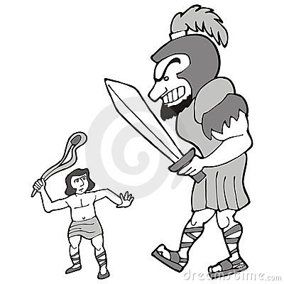 David und goliath clipart vector freeuse download David And Goliath Royalty Free Stock Image - Image: 3295756 vector freeuse download