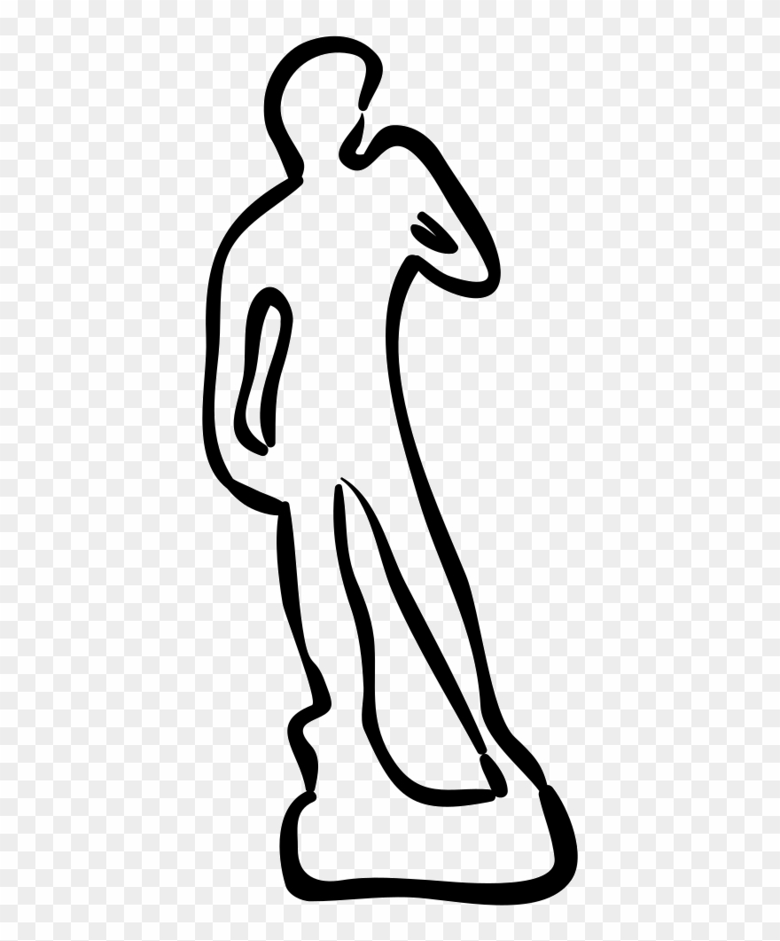 Statue icon clipart jpg library stock David Statue Hand Drawn Outline Svg Png Icon Free Download - Png ... jpg library stock