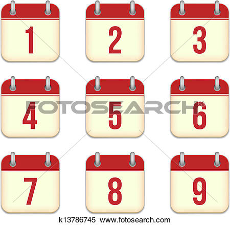 Day 1 clipart png black and white library Clip Art of Vector calendar app icon. 19 December k15501898 ... png black and white library
