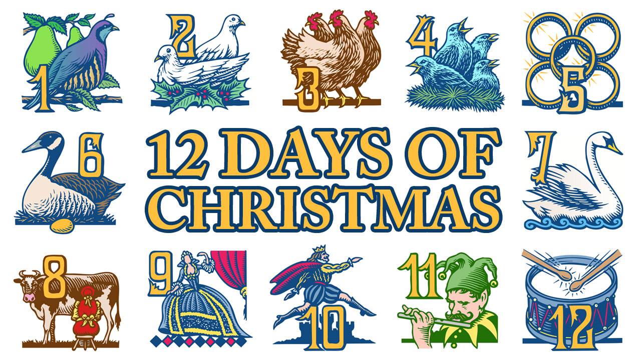 The twelve days of christmas clipart clipart stock Twelve Days Of Christmas Clipart Group with 19+ items clipart stock