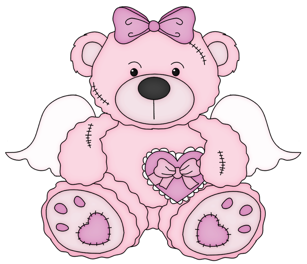 Halloween teddy bear clipart png download Pink Valentine Teddy Bear PNG Clipart Picture | Gallery ... png download