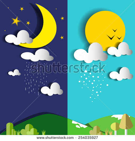 Day night clipart vector freeuse library Day and night clipart 8 » Clipart Station vector freeuse library